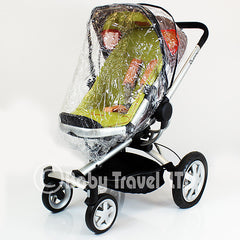 Rain Cover Fit Silver Cross Surf Pram Pushchair & Carrycot Mode Zipped - Baby Travel UK  - 1
