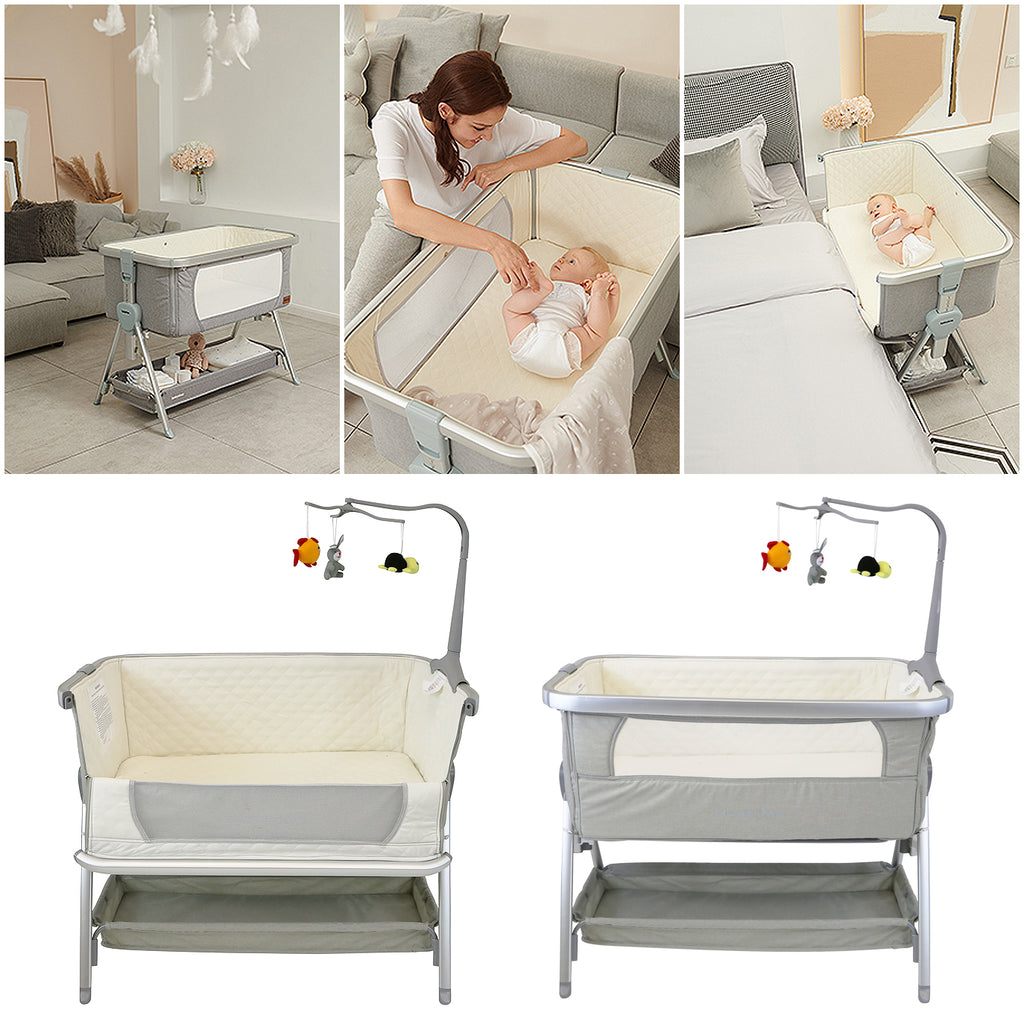 baby crib, bedside crib, coo sleeping crib,