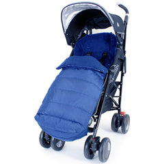 Universal Tippitoes Toto Stroller Large Luxury Foot-muff And Liner - Navy (Navy) - Baby Travel UK  - 2