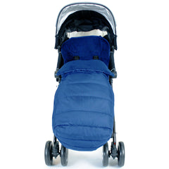 XXL Large Luxury Foot-muff And Liner For Mamas And Papas Armadillo - Navy (Navy) - Baby Travel UK  - 4