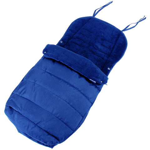 Deluxe Large Baby Footmuff Liner Fits Zeta Vooom - Navy