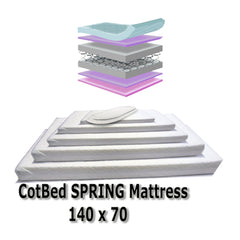 Baby Travel Mattress Spring Foam for Cot CotBed Swinging Crib Moses Basket - Baby Travel UK  - 2