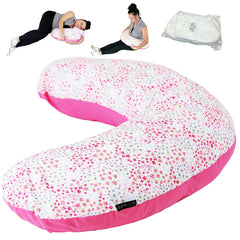 Pregnancy Support Maternity and Breast Feeding Pillow + (Bed of Roses Case)