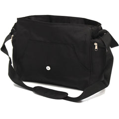 Baby Travel Zeta Changing Bag Plain BLACK Complete With Changing Matt - Baby Travel UK  - 3