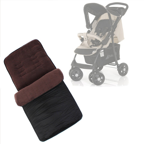 Buddy Jet Foot Muff Chocolate Suitable For Hauck Shopper Shop n Drive Travel System (Almond/Caviar)