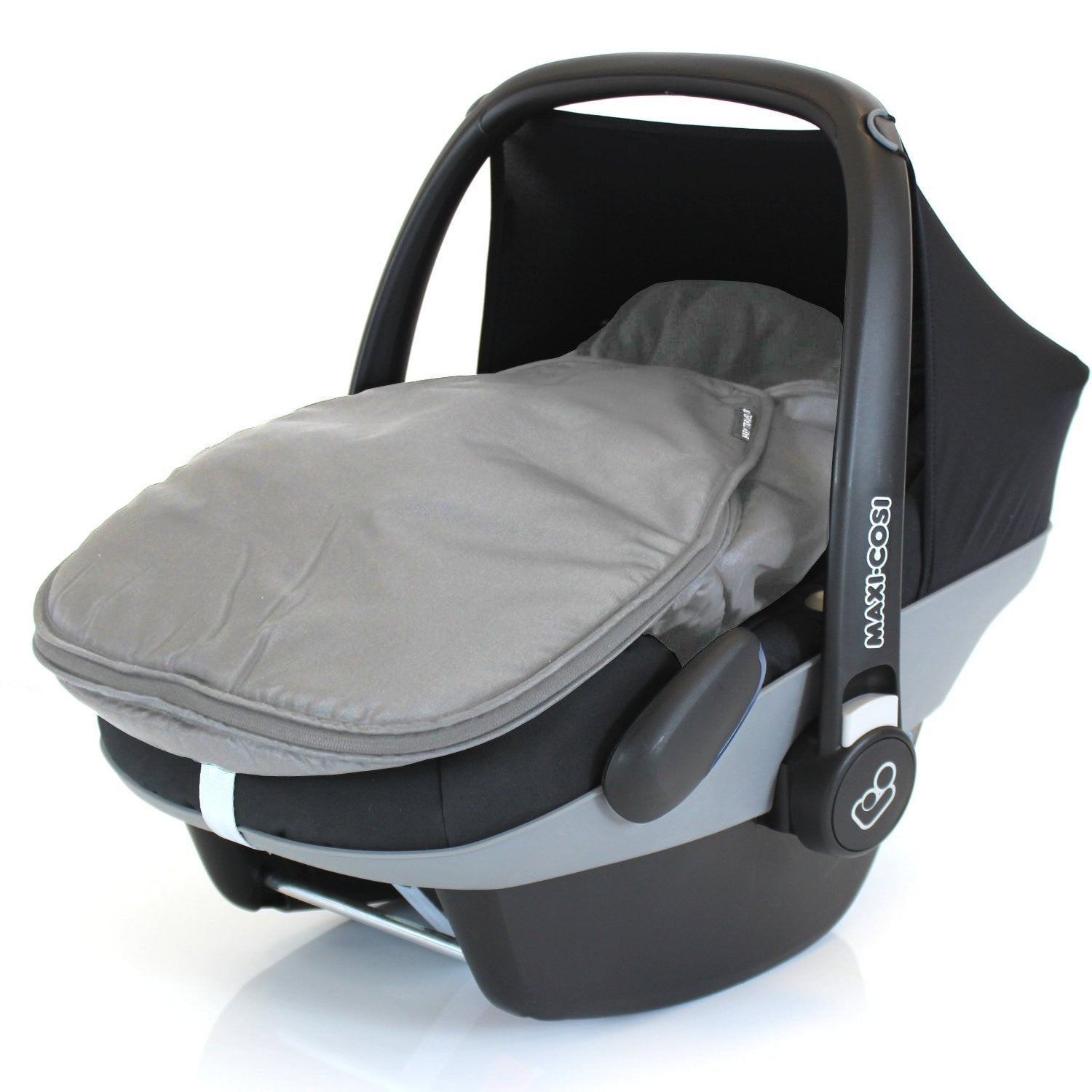 New Footmuff For Maxi Cosi Cabrio Pebble Carseat Universal Grey Fleece Lined