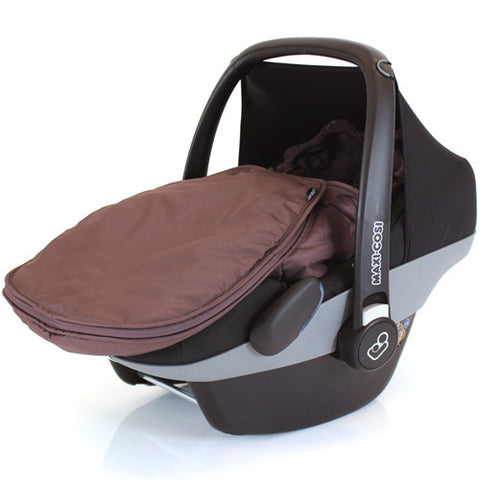 New Carseat Footmuff Hot Chocolate Brown Fits Graco Symbio Mosaic Mirage Quattro