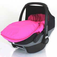 Carseat Footmuff Raspberry Pink Fits Hauck Malibu Icoo Pram Travel System - Baby Travel UK  - 3