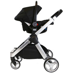 Marvel 3in1 Pram - Black Pearl Pram Travel System (+ Luxury Carrycot + Car Seat) - Baby Travel UK  - 7