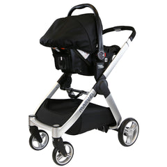 Marvel 3in1 Pram - Black Pearl Pram Travel System (+ Luxury Carrycot + Car Seat) - Baby Travel UK  - 6