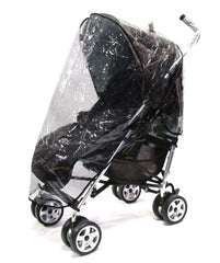 Rain Cover Fits Mothercare Xoob Stroller Black Stripes - Baby Travel UK  - 1