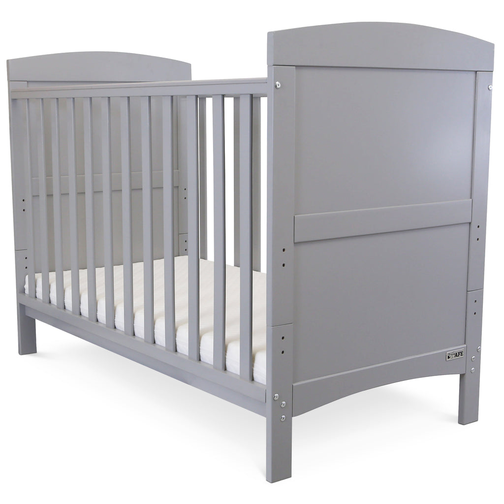 Baby Bed Toddler Cot Grey