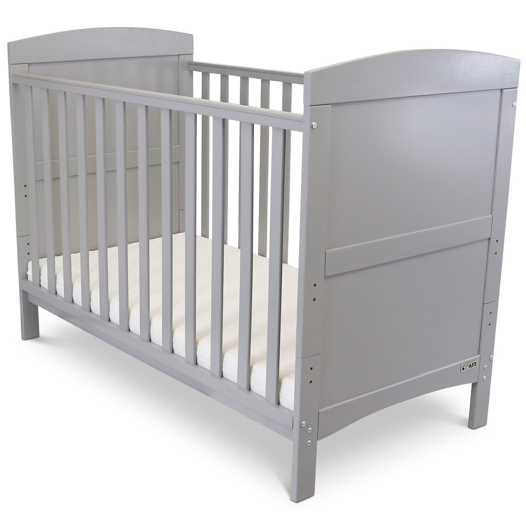 Bedside Cot Bed Crib Baby Junior Bed Grey