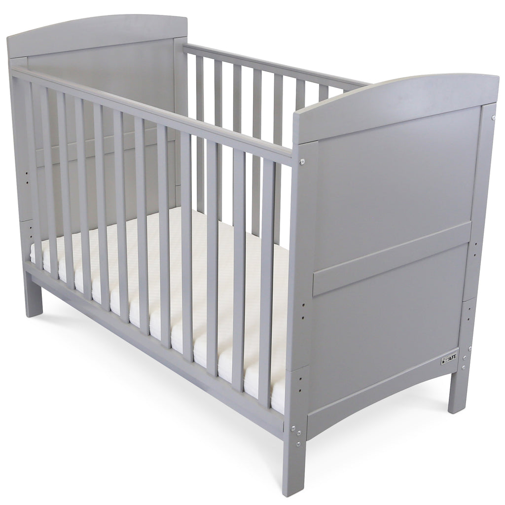 Cheap Baby Bed Cot Crib Grey