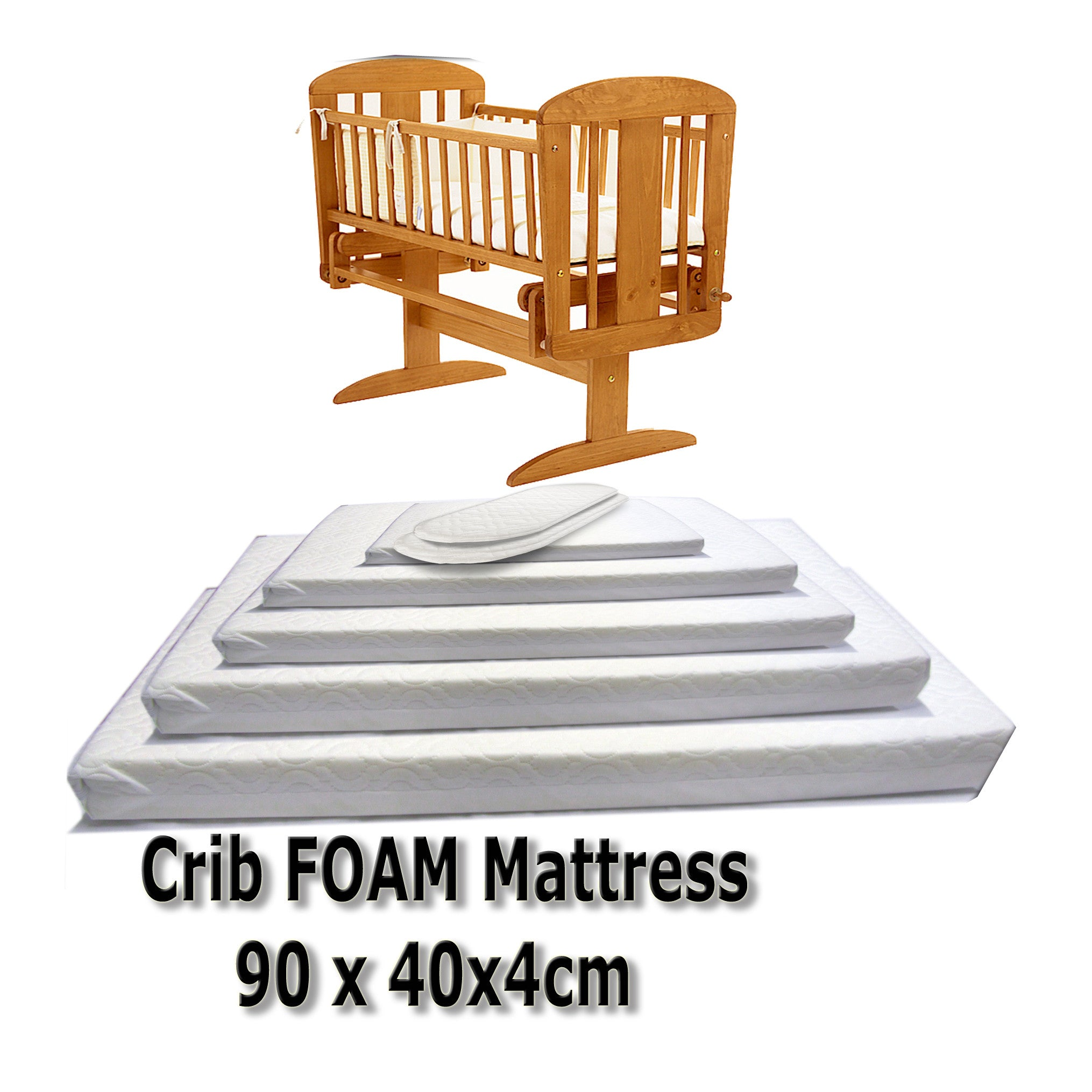 Baby cribs moses baskets - Baby Travel Mattress Spring Foam For Cot Cotbed Swinging Crib Moses Basket Baby Travel Uk