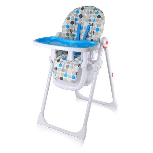 iSafe MAMA Highchair - Blue Circles - Baby Travel UK  - 1