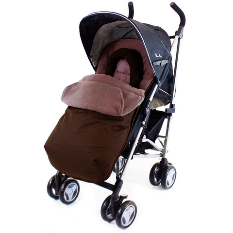 Deluxe Universal Footmuff & Headhugger - Hot Chocolate (Brown)