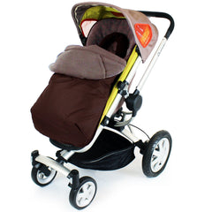 Footmuff Cosytoes & Head Hugger - Hot Chocolate (Brown) Fits Silver Cross Pop - Baby Travel UK  - 1