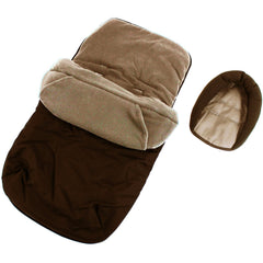 Footmuff Cosytoes & Head Hugger - Hot Chocolate (Brown) Fits Silver Cross Pop - Baby Travel UK  - 3