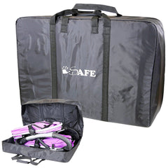 TWIN / INLINE / DOUBLE Travel Bag Luggage Heavy Duty Design For Inline Tandem Travel Tote - Baby Travel UK  - 5