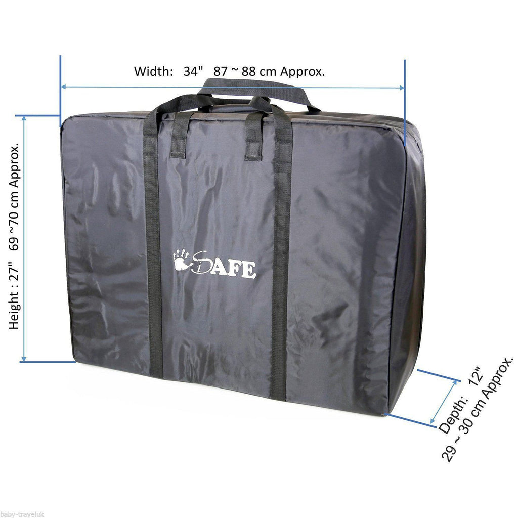iSafe Large Holiday TWIN / INLINE / DOUBLE Travel Bag Luggage Heavy Duty Design For iSafe Me&You Travel Tote - Baby Travel UK  - 1