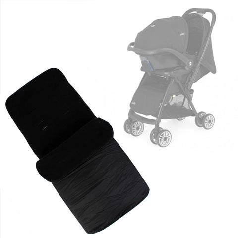 Buddy Jet Foot Muff Black Suitable For Joie Mirus Travel System (Black Ink)