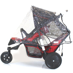New Rain Cover For Freerider Hauck Tandem Inline Pushchair Raincover (vibe) - Baby Travel UK  - 1