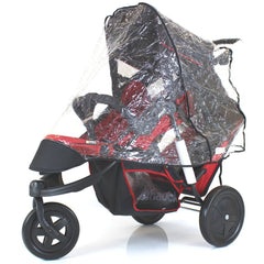 New Rain Cover For Freerider Hauck Tandem Inline Pushchair Raincover (vibe) - Baby Travel UK  - 2