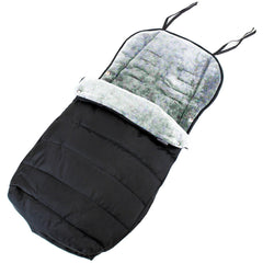XXL Large Luxury Foot-muff And Liner For Mamas And Papas Armadillo - Black/Grey - Baby Travel UK  - 2