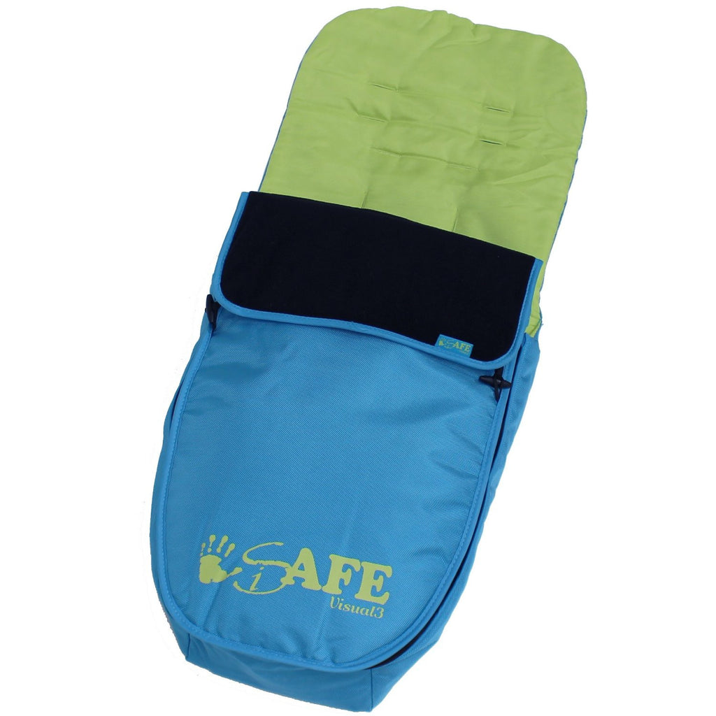 Genuine iSafe Visual 3 Universal Deluxe 2 In 1 Footmuff Cosytoes Liner - Apple Slice - Baby Travel UK
