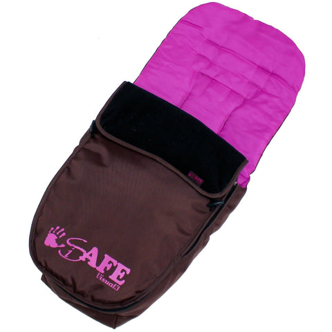 Genuine iSafe Visual 3 Universal Deluxe 2 In 1 Footmuff Cosytoes Liner - Plum Cake