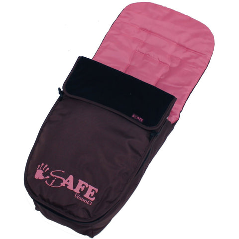 Genuine iSafe Visual 3 Universal Deluxe 2 In 1 Footmuff Cosytoes Liner - Raspberry Cake