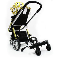 Buggy Stroller Pram Board To Fit Cosatto Giggle - Black/Grey - Baby Travel UK  - 4