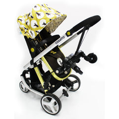 Buggy Stroller Pram Board To Fit Cosatto Giggle - Black/Grey - Baby Travel UK  - 5