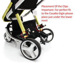 Buggy Stroller Pram Board To Fit Cosatto Giggle - Black/Grey - Baby Travel UK  - 7