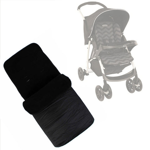 Buddy Jet Foot Muff Black Suitable For Graco Mirage Plus Travel System (Black ZigZag)