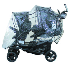 New Design Raincover For Graco Quattro Tour Duo Tandem Double - Baby Travel UK  - 2