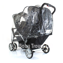 Raincover Fits Graco Quattro Duo Twin Tandem Rain Cover - Baby Travel UK  - 3