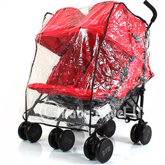 Rain Cover Tofit Mothercare Duo Lite Twin Pushchair - Baby Travel UK  - 1