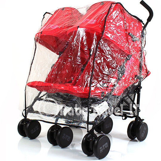 Raincover For Cosatto Supa Dupa Pushchair Twin Rain Cover - Baby Travel UK  - 1