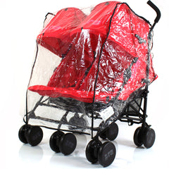 Raincover To Fit OBaby Leto Plus Twin Stroller Pushchair Rain Cover - Baby Travel UK  - 1