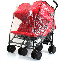 Raincover For Bob Revolution Twin Pushchair Rain Cover - Baby Travel UK  - 1