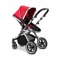 iVogue Apple Luxury 3in1 Pram Stroller Travel System By iSafe (Carseat+ISOFIX Base Included)