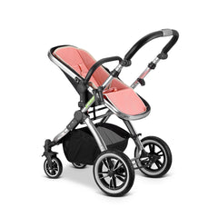 iVogue Peach Luxury 3in1 Pram Stroller Travel System By iSafe+Carseat+Changing Bag+ISOFIX Base