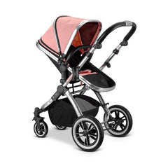 iVogue Peach Luxury 3in1 Pram Stroller Travel System By iSafe+Carseat+ISOFIX Base