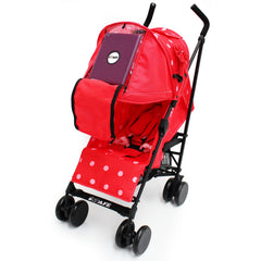 iSafe Media Viewing Bow Dots Stroller Buggy Complete Package - Baby Travel UK  - 4