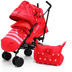 iSafe Media Viewing Bow Dots Stroller Buggy Complete Package - Baby Travel UK  - 8