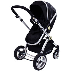 iSafe 3 in 1 - Black (With Car Seat) Travel System Pram Options - Baby Travel UK  - 6