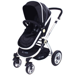 iSafe 3 in 1 - Black (With Car Seat) Travel System Pram Options - Baby Travel UK  - 7