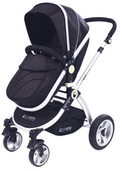 iSafe 3 in 1 - Black (With Car Seat) Travel System Pram Options - Baby Travel UK  - 13